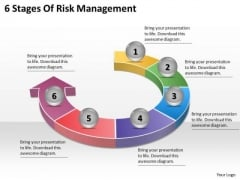 Timeline Ppt Template 6 Stages Of Risk Management