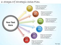 Timeline Ppt Template 6 Stages Of Strategic Sales Plan