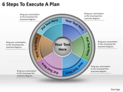 Timeline Ppt Template 6 Steps To Execute A Plan