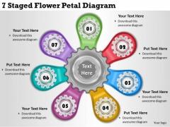 Timeline Ppt Template 7 Staged Flower Petal Diagram