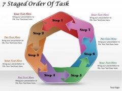 Timeline Ppt Template 7 Staged Order Of Task