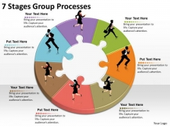 Timeline Ppt Template 7 Stages Group Processes