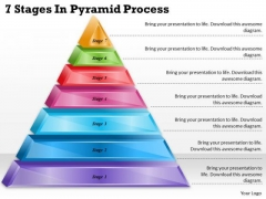 Timeline Ppt Template 7 Stages In Pyramid Process