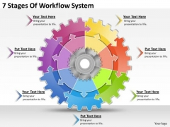 Timeline Ppt Template 7 Stages Of Workflow System