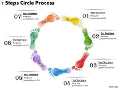 Timeline Ppt Template 7 Steps Circle Process