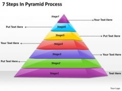 Timeline Ppt Template 7 Steps In Pyramid Process