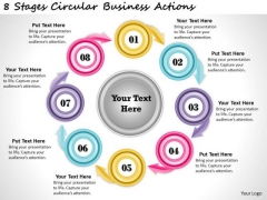 Timeline Ppt Template 8 Stages Circular Business Actions