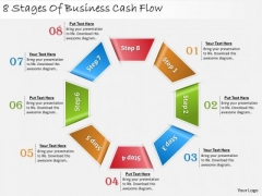 Timeline Ppt Template 8 Stages Of Business Cash Flow