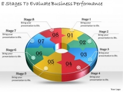 Timeline Ppt Template 8 Stages To Evaluate Business Performance