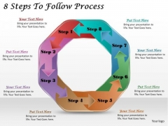 Timeline Ppt Template 8 Steps To Follow Process