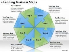 Timeline Ppt Template 9 Leading Business Steps