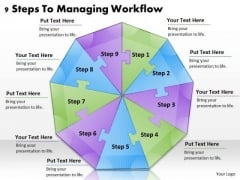 Timeline Ppt Template 9 Steps To Managing Workflow