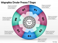 Timeline Ppt Template Infographics Circular Process 7 Stages