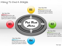 Timeline Ppt Template Many To One 4 Stages
