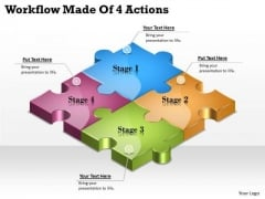 Timeline Ppt Template Workflow Made Of 4 Actions