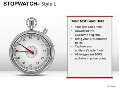 Timing Stopwatch 1 PowerPoint Slides And Ppt Diagram Templates