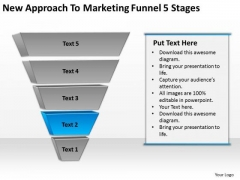 To Marketing Funnel 5 Stages Ppt Business Plan Template PowerPoint Slides