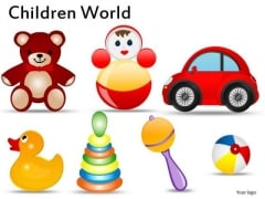 Toddlers Toys PowerPoint Templates