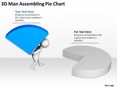 Top Business People 3d Man Assembling Pie Chart PowerPoint Slides