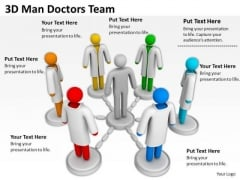 Top Business People 3d Man Doctors Team PowerPoint Templates