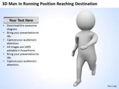 Top Business People 3d Man Running Position Reaching Destination PowerPoint Slides