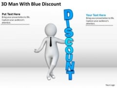 Top Business People 3d Man With Blue Discount PowerPoint Templates
