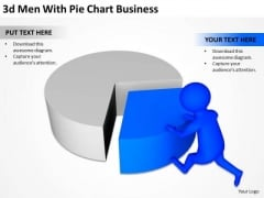 Top Business People 3d Man With Pie Chart New PowerPoint Presentation Templates