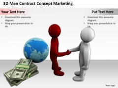 Top Business People 3d Men Contract Concept Marketing PowerPoint Templates