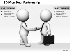 Top Business People 3d Men Deal Partnership PowerPoint Templates