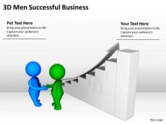 Top Business People 3d Men Successful Free PowerPoint Templates