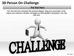 Top Business People 3d Person Challenge PowerPoint Templates
