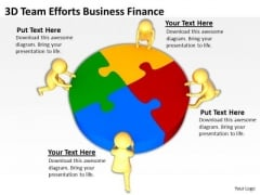 Top Business People 3d Team Efforts Finance PowerPoint Templates