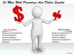 Total Marketing Concepts 3d Man With Percentage And Dollar Symbol Character Models