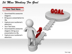 Total Marketing Concepts 3d Man Working For Goal Character Models