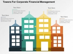 Towers For Corporate Financial Management PowerPoint Template