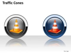 Traffic Cones Icons PowerPoint Slides And Ppt Diagram Templates