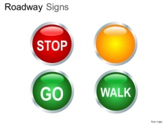 Traffic Lights Road Signs PowerPoint Slides And Ppt Diagram Templates