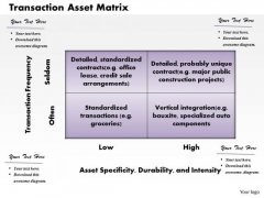 Transaction Asset Matrix Business PowerPoint Presentation
