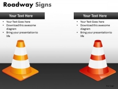 Transport Roadway Signs PowerPoint Slides And Ppt Diagram Templates