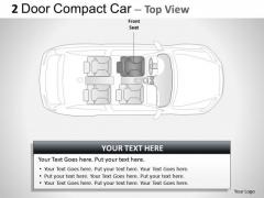 Transportation 2 Door Blue Car Top PowerPoint Slides And Ppt Diagram Templates