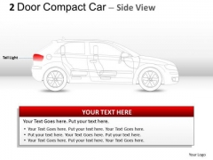 Transportation 2 Door Gray Car Side PowerPoint Slides And Ppt Diagram Templates