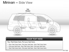 Transportation Green Minivan Side View PowerPoint Slides And Ppt Diagram Templates