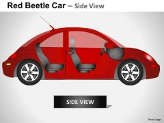Transportation Red Beetle Car PowerPoint Slides And Ppt Diagram Templates