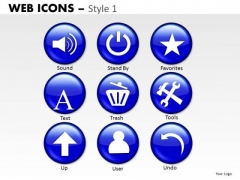 Trash Text User Icons PowerPoint Slides And Ppt Diagram Templates