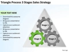 Triangle Process 3 Stages Sales Strategy Ppt Blank Business Plan Template PowerPoint Templates
