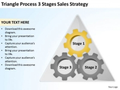Triangle Process 3 Stages Sales Strategy Ppt Business Plan PowerPoint Slides