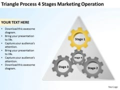Triangle Process 4 Stages Marketing Operation Ppt Business Plan PowerPoint Slides