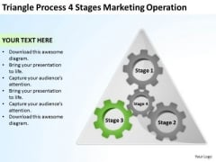 Triangle Process 4 Stages Marketing Operation Ppt Business Plans How To PowerPoint Slides