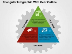 Triangular Infographic With Gear Outline PowerPoint Template