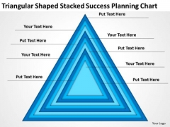 Triangular Shaped Stacked Success Planning Chart Ppt Business For PowerPoint Slides